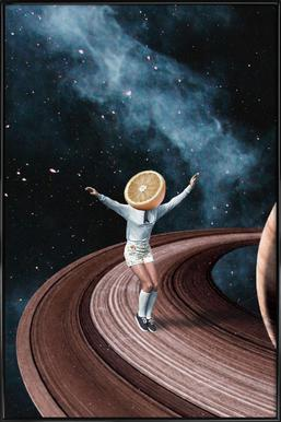 Jumping Oranges in My Head - Poster in kunststof lijst