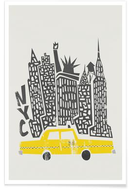 New York Cityscape affiche