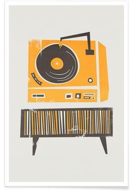 Vinyl Junkie - Premium Poster