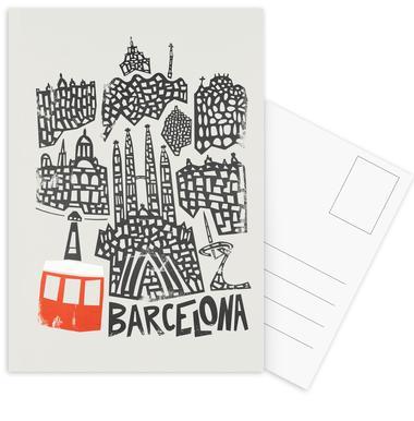 Barcelona Cityscape cartes postales