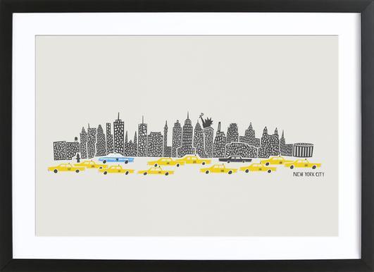 Panoramic New York Framed Print