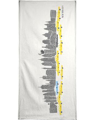 Panoramic New York Bath Towel