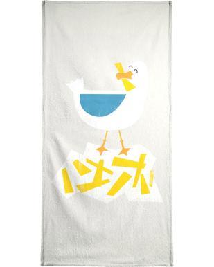 Hungry Seagull Bath Towel