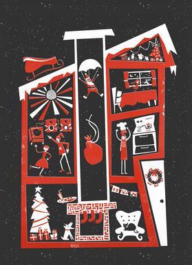 Christmas Chaos Canvastavla