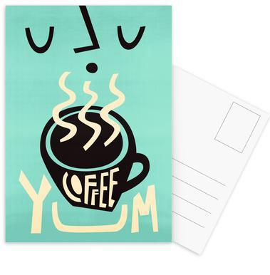 Yum Coffee -Postkartenset