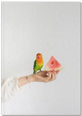 Watermelon And Parrot Notebook