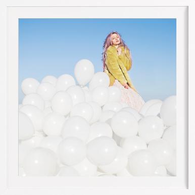 300 Balloons - Poster in houten lijst