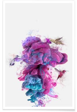 Hummingbirds Ink Poster
