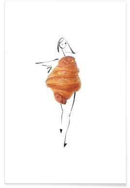 Croissant Fashion Sketch Poster
