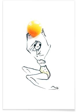 Egg Fashion Sketch Poster