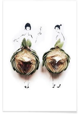 Artichoke Fashion Sketch Poster