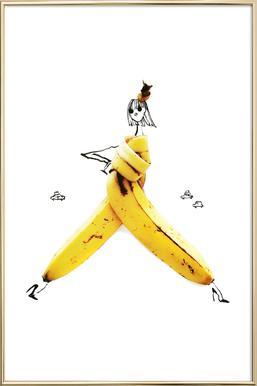 Banana Poster in Aluminium Frame