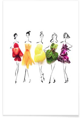 Rainbow Fashion Sketch Plakat