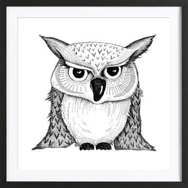 Owl Poster i träram