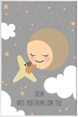 Moon - Poster im Kunststoffrahmen