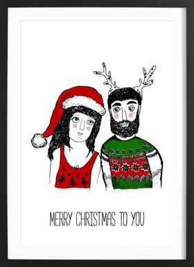 Hipster Christmas Poster i träram