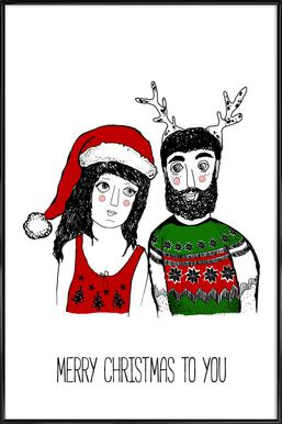 Hipster Christmas Poster i standardram