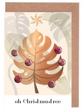 Oh Christmastree Gratulationskort i satt