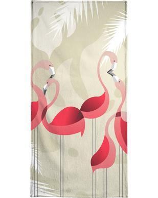 Flamingo handdoek