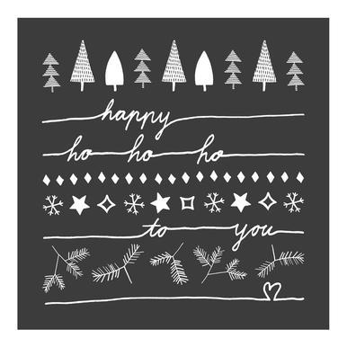 Happy Ho Ho Ho to You - Grey -Leinwandbild