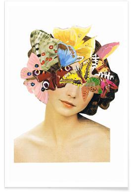 Het recht mooi te zijn - Butterflyhead - Premium Poster