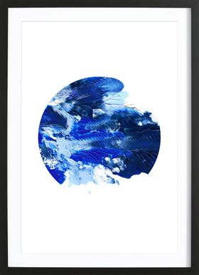 Holy Smudge (Blue) - Poster in Wooden Frame