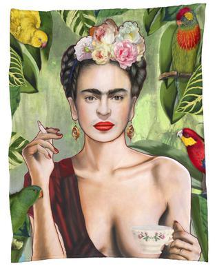 Frida Con Amigos Fleece Blanket