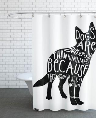 Dickinson's Dog Shower Curtain