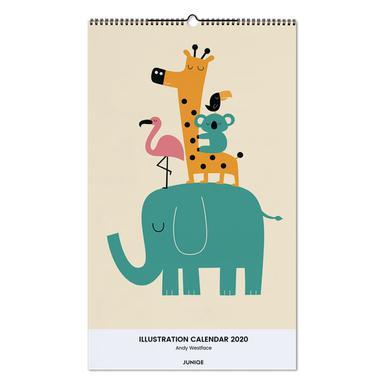 Illustration Calendar 2020 - Andy Westface calendrier mural