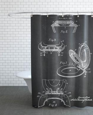 Toilet Seat -Duschvorhang