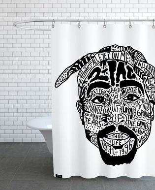 Tupac Shower Curtain