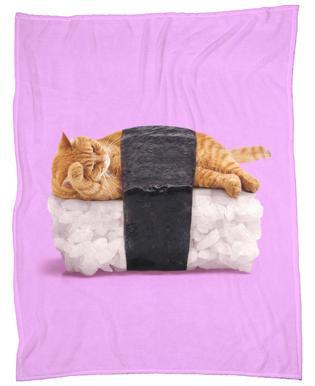 Sushi Cat -Fleecedecke
