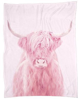Highland Cow Fleece Blanket