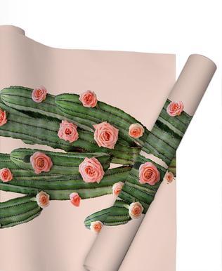 Cactus Roses papier cadeau