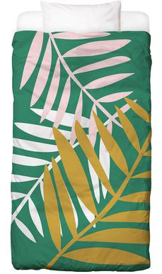Palm Leaves in Green Bed Linen