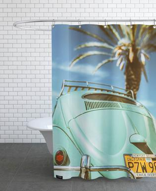 California Turquoise Shower Curtain