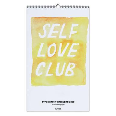 Typography Calendar 2020 - Brushmeetspaper Wall Calendar