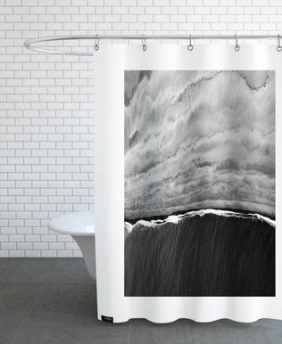 Black Ocean Shower Curtain