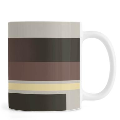 Grey, Brown & Yellow Mug