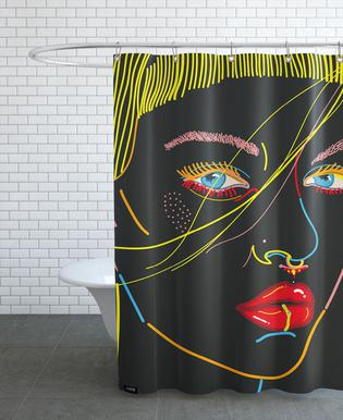 Model Face Shower Curtain