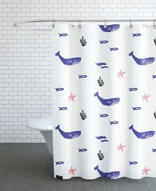 Whale Underwater Shower Curtain