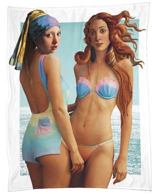 Beach Girls Fleece Blanket