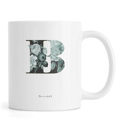 Flower Alphabet - B -Tasse