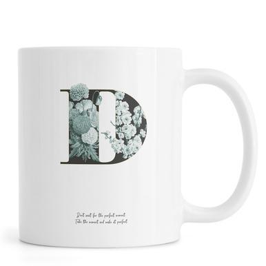 Flower Alphabet - D mug