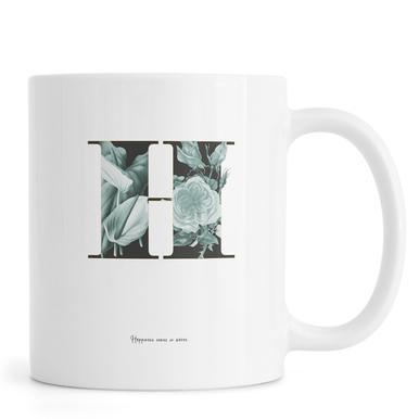 Flower Alphabet - H -Tasse