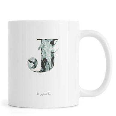 Flower Alphabet - J mug