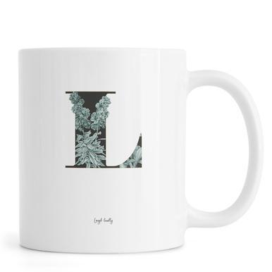 Flower Alphabet - L mug