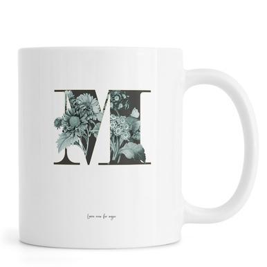Flower Alphabet - M mug
