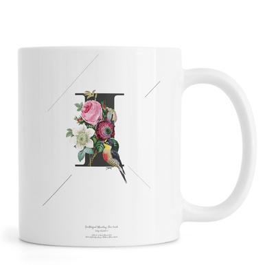 Botanical Alphabet - I mug