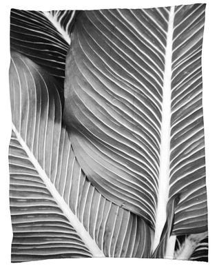 Tropical Leaves -Fleecedecke